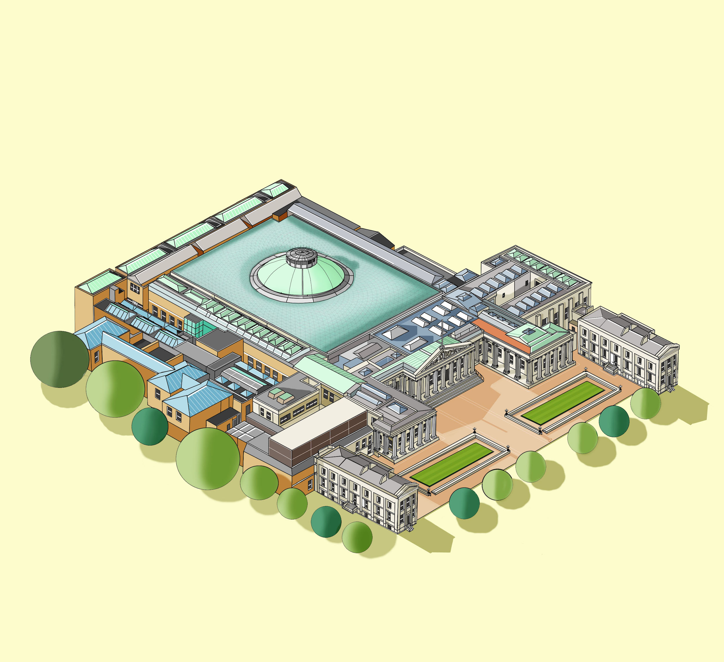 The British Museum  Illustration by Katherine Baxter