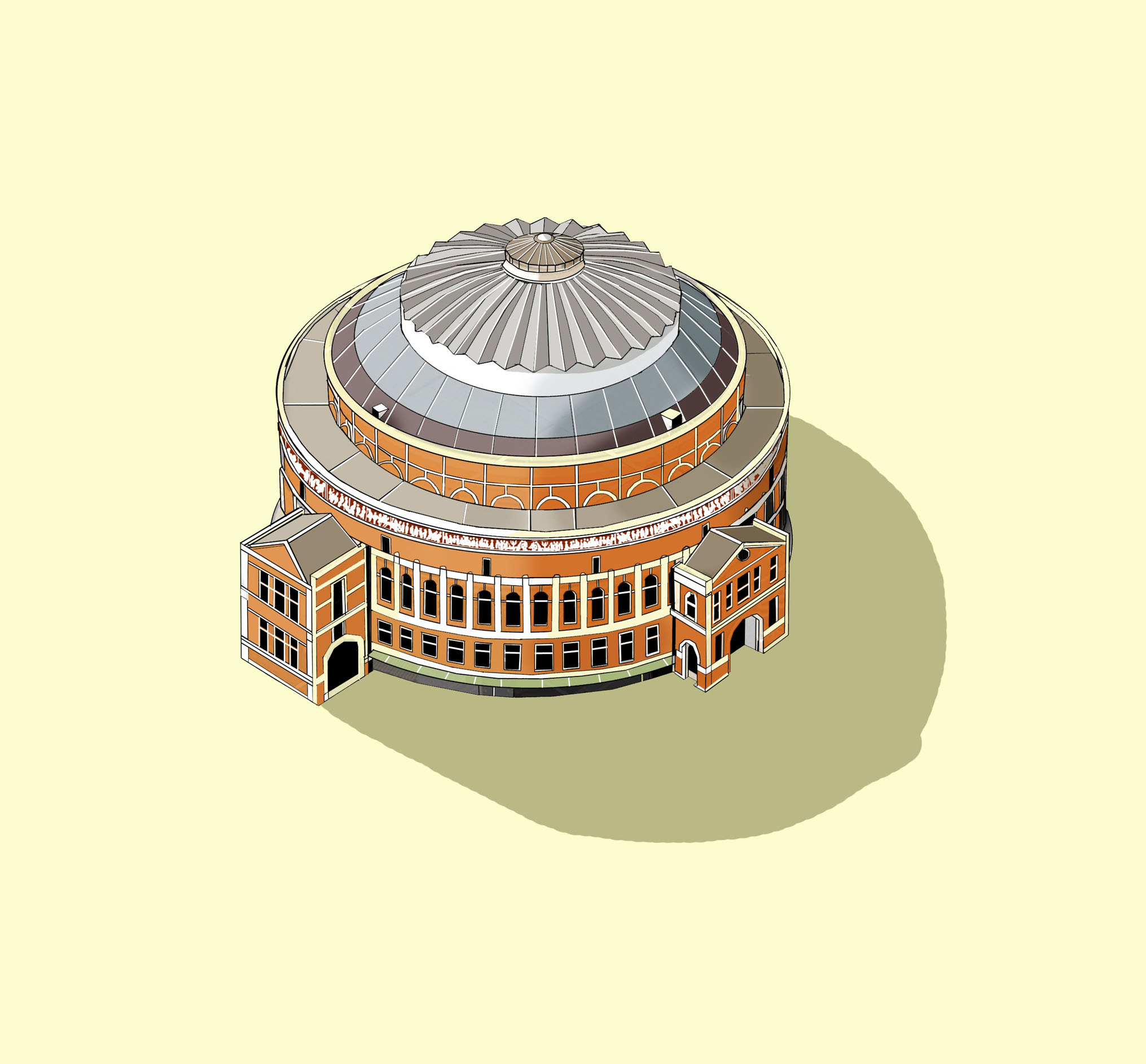 The Royal Albert Hall  Illustration by Katherine Baxter
