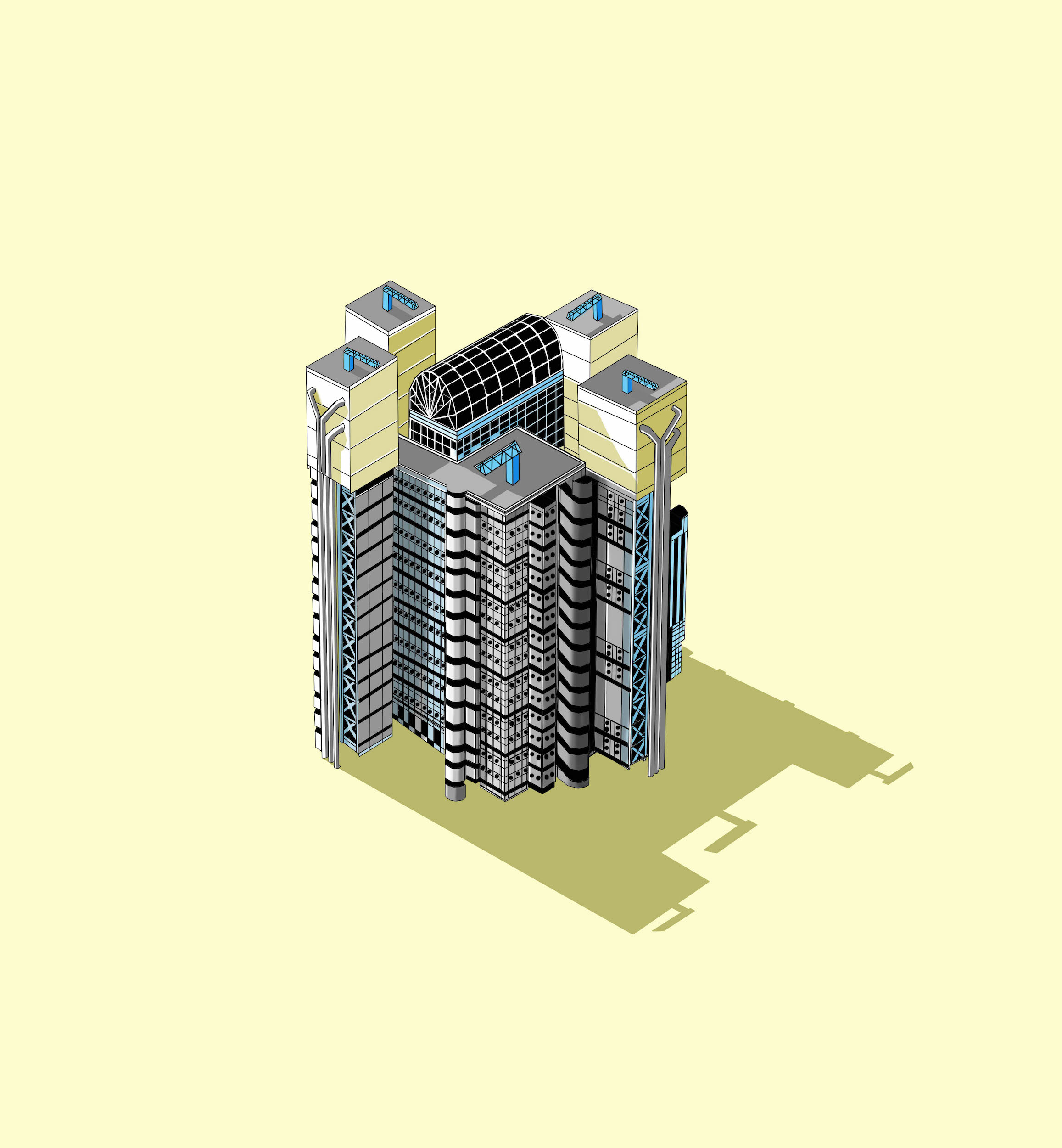 Lloyds Building  Illustration by Katherine Baxter