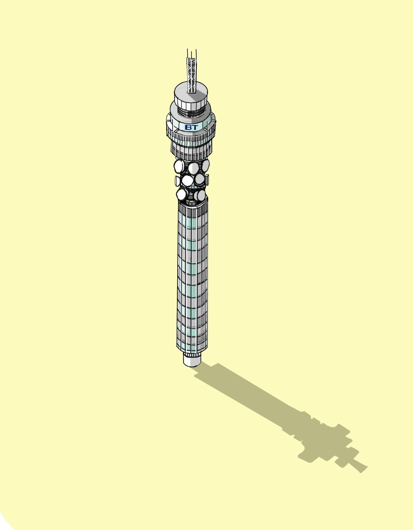 The Telecom Tower  Illustration by Katherine Baxter