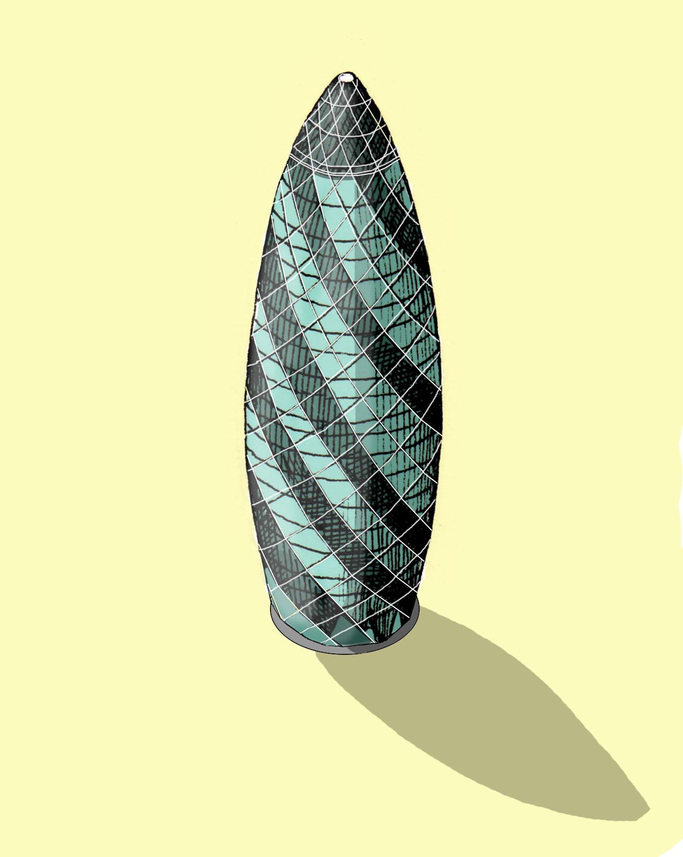 The Gherkin  Illustration by Katherine Baxter