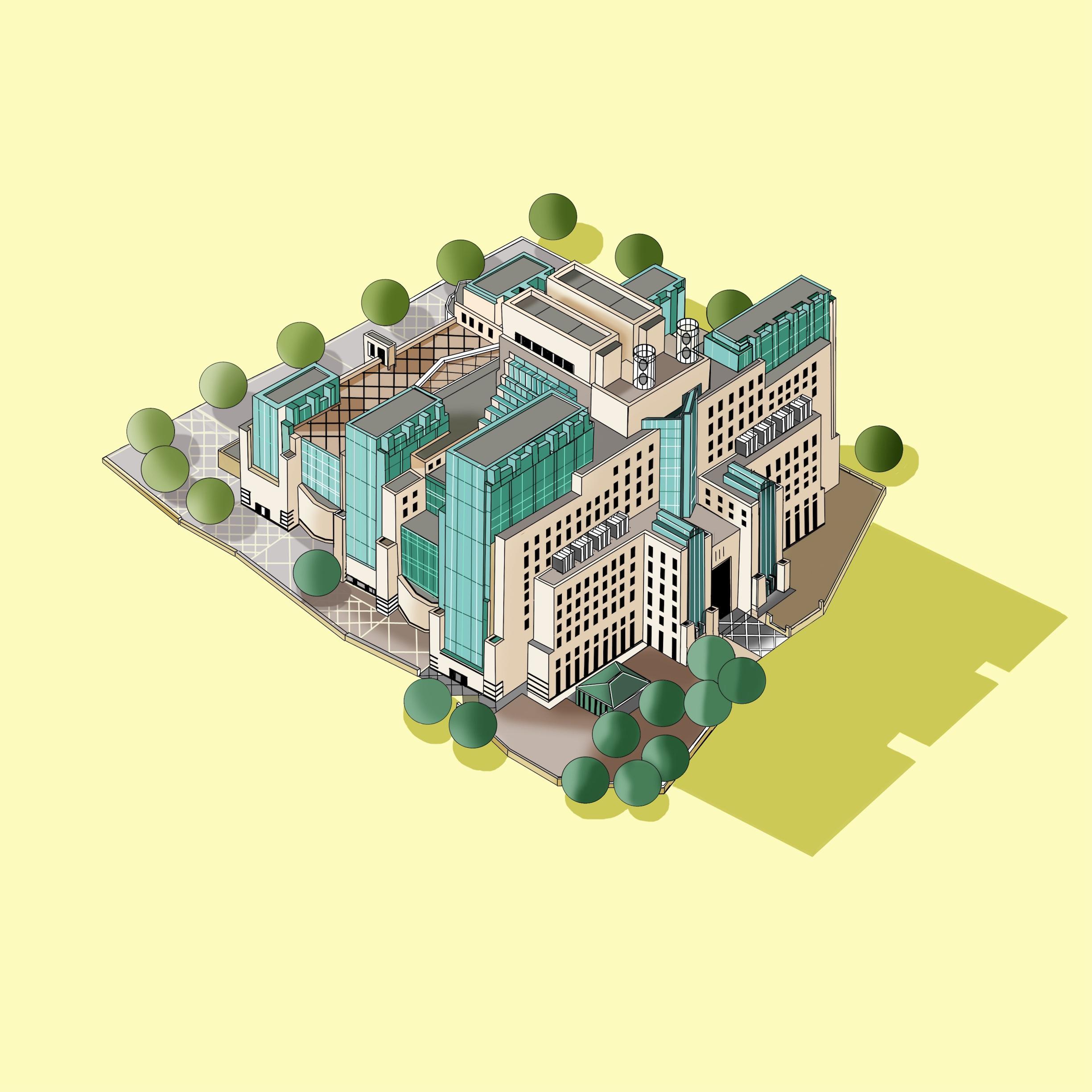 MI6 Building  © Katherine Baxter