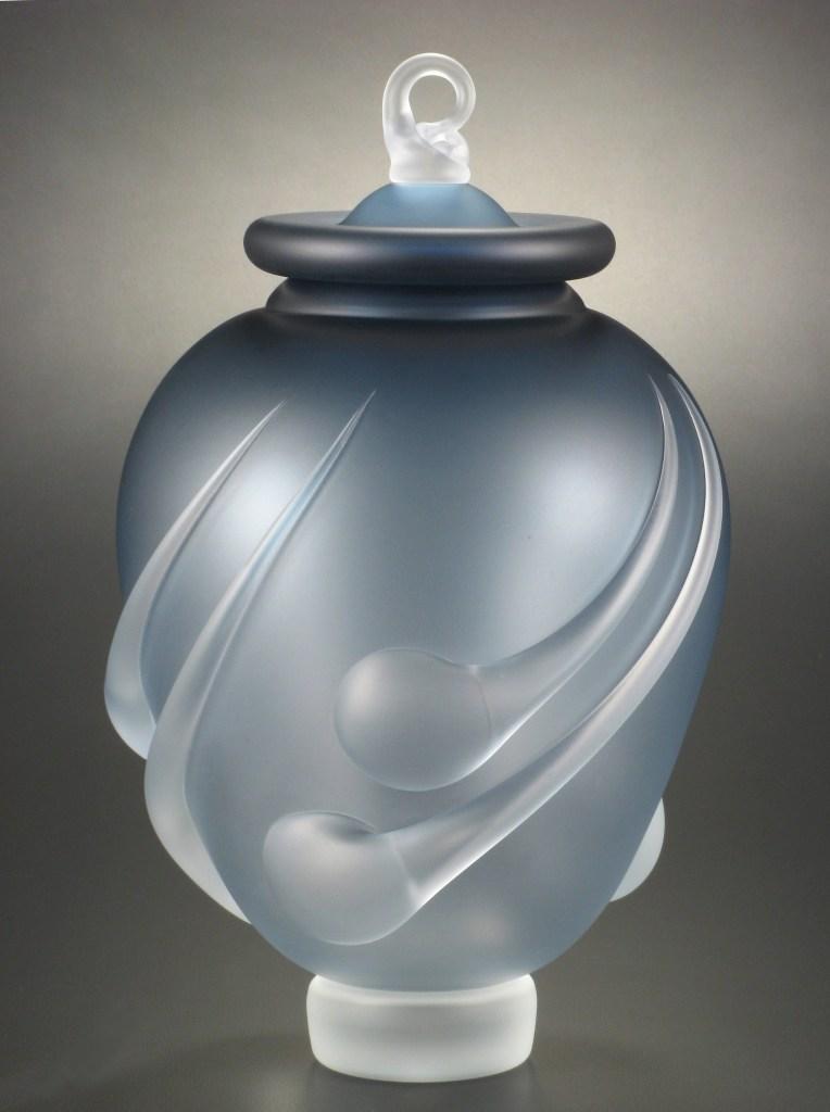 Levin - Blue Urn #4 - 10.5 in. tall x 6.2 in. diam..jpg