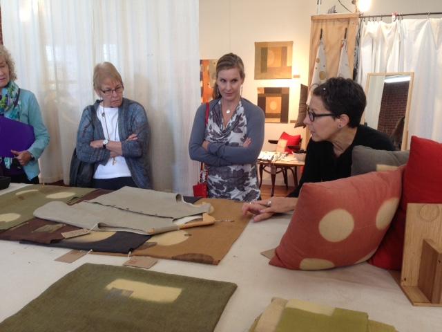 Barbara Zaretsky of Cloth Fiber Workshop describes her processes