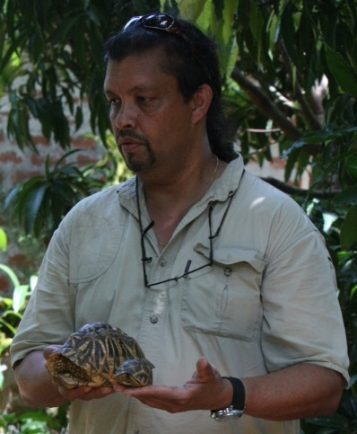 Kingsley Rodrigo   Kingsley is a co-founder of the Chersina Angulata Working Group and has successfully bred Chersina angulata. A native of Sri Lanka, Kingsley is also very involved with Sri Lankan conservation initiatives and holds particular interest in the conservation of the Sri Lankan Star Tortoise. He takes annual trips to Sri Lanka and supports many conservation activities. Kingsley is also a regular contributor to  The Tortoise Forum .