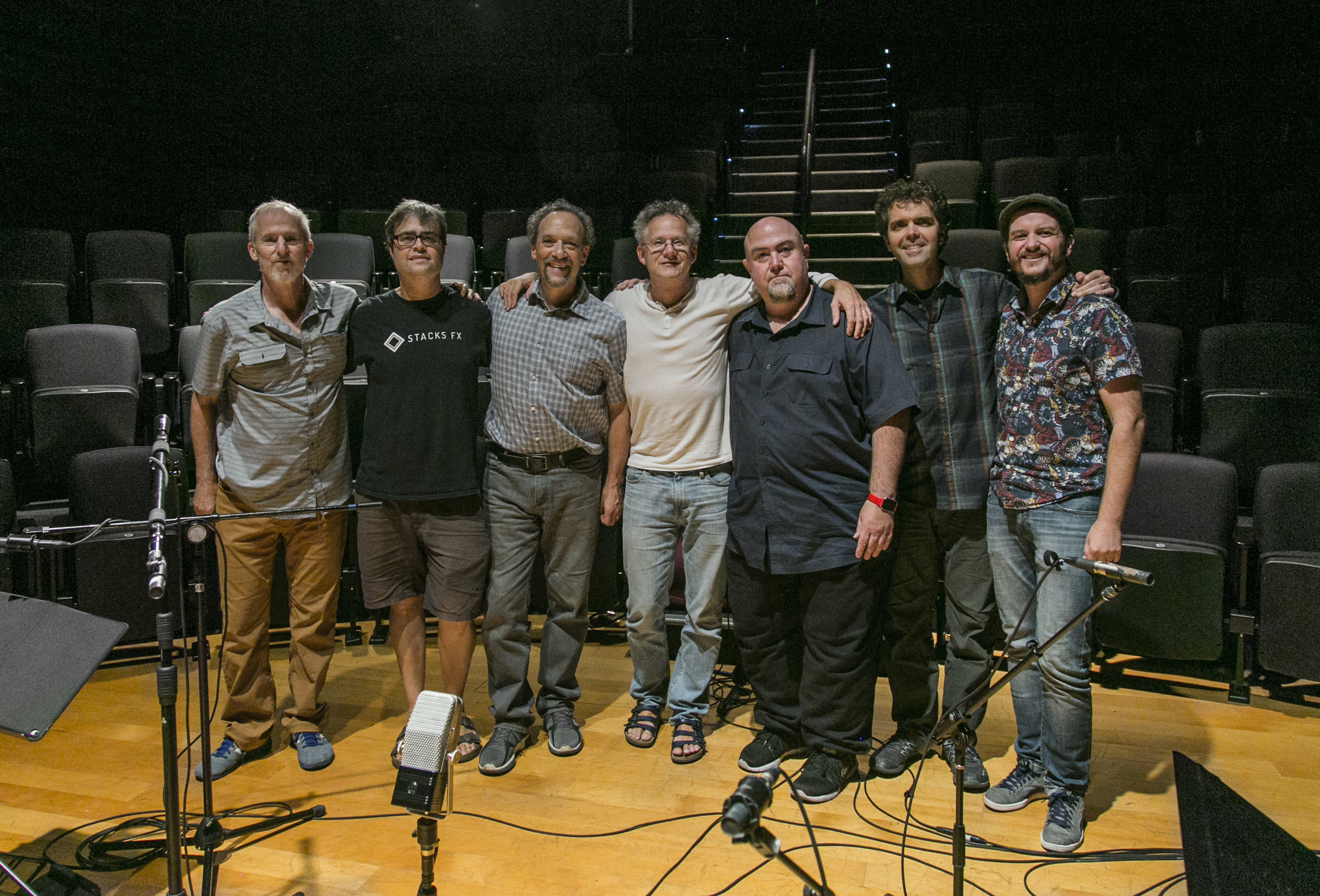 "With crew after recording ""Suite Trancendant"""