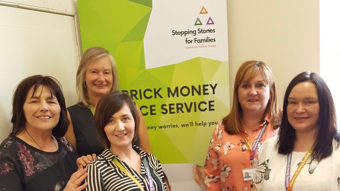 Photo from a recent visit to the Carrick Money Advice Service by Jeane Freeman MSP, Minister for Social Security.