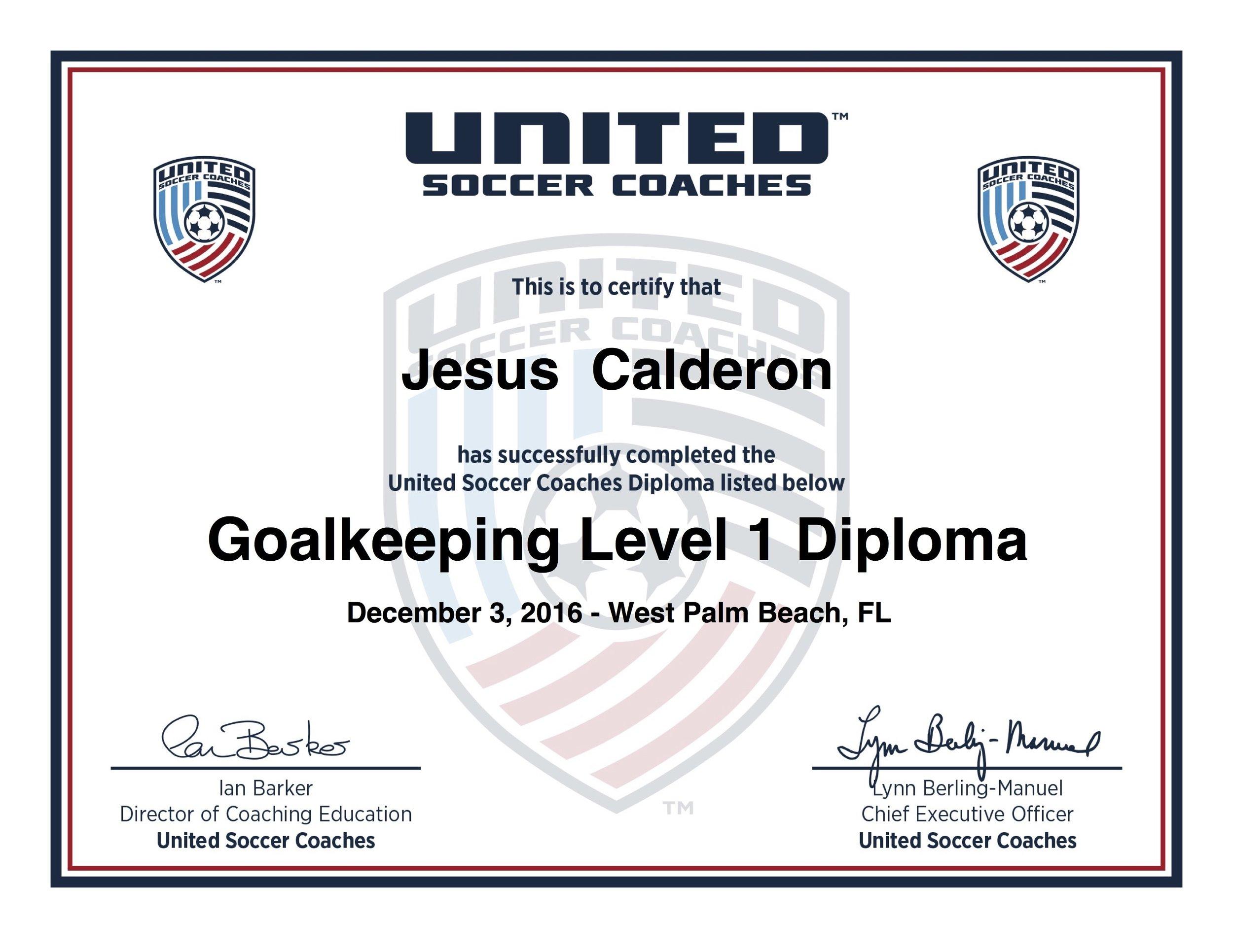 Jesus Goalkeeping Level 1 Diploma.jpg