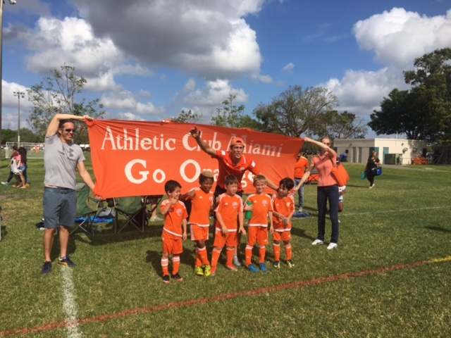 Champions of South Florida Youth Soccer League U7 Div. - Spring 2017