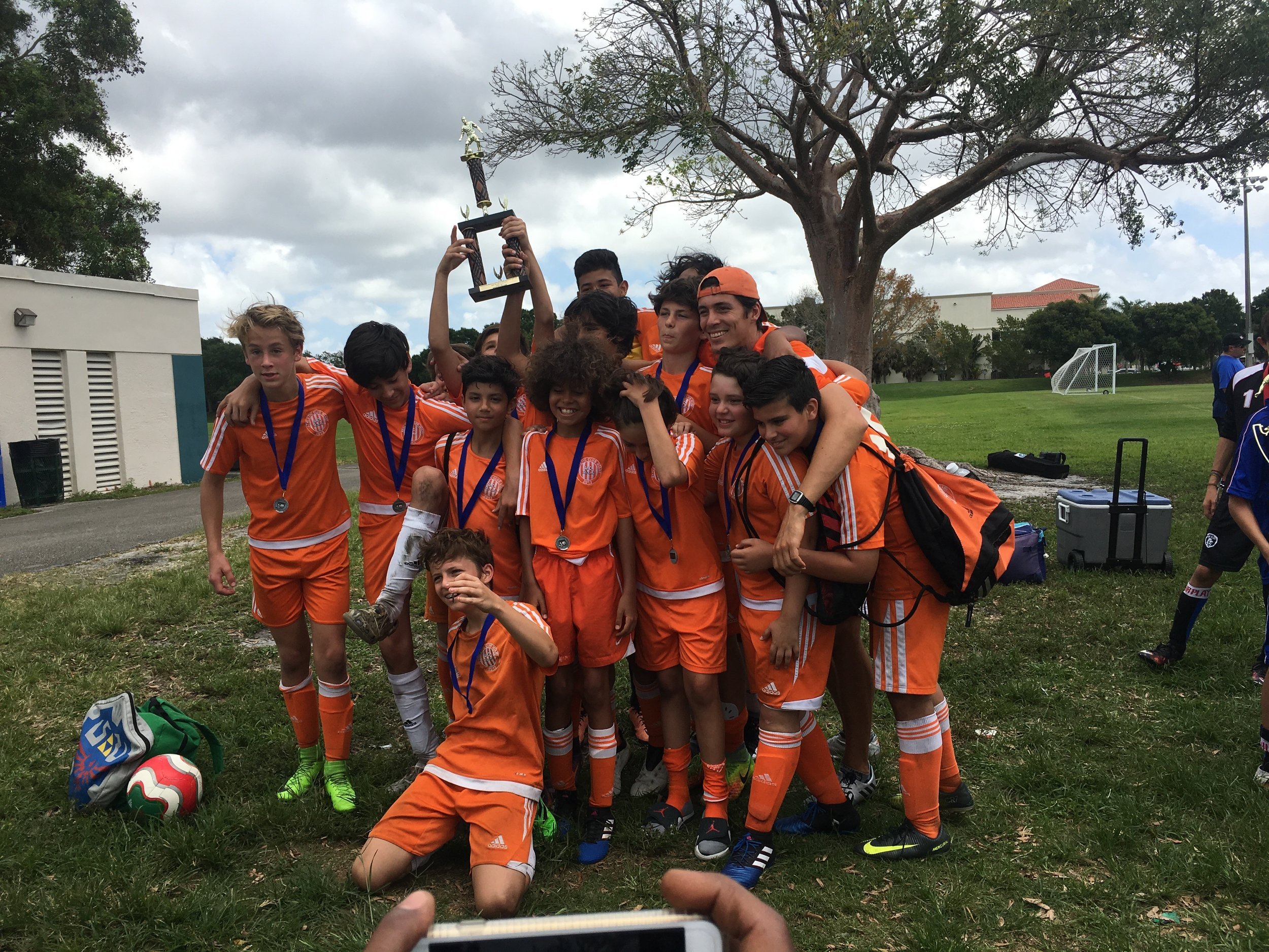 U14 Finalists of South Florida Youth Soccer League Spring 2017.JPG
