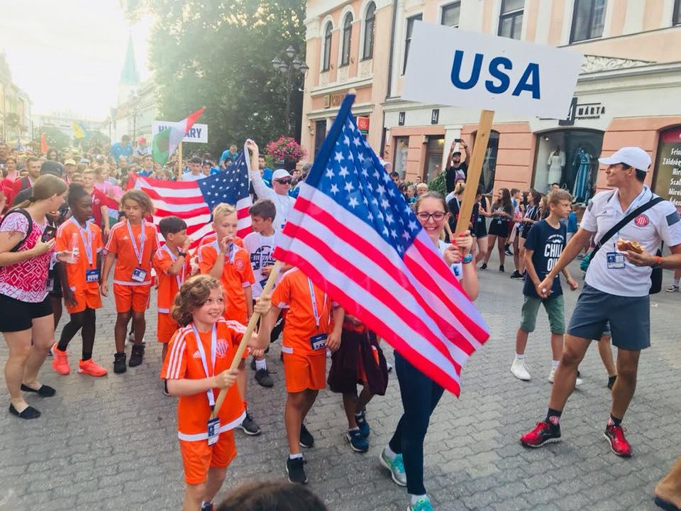Representing U.S.A.