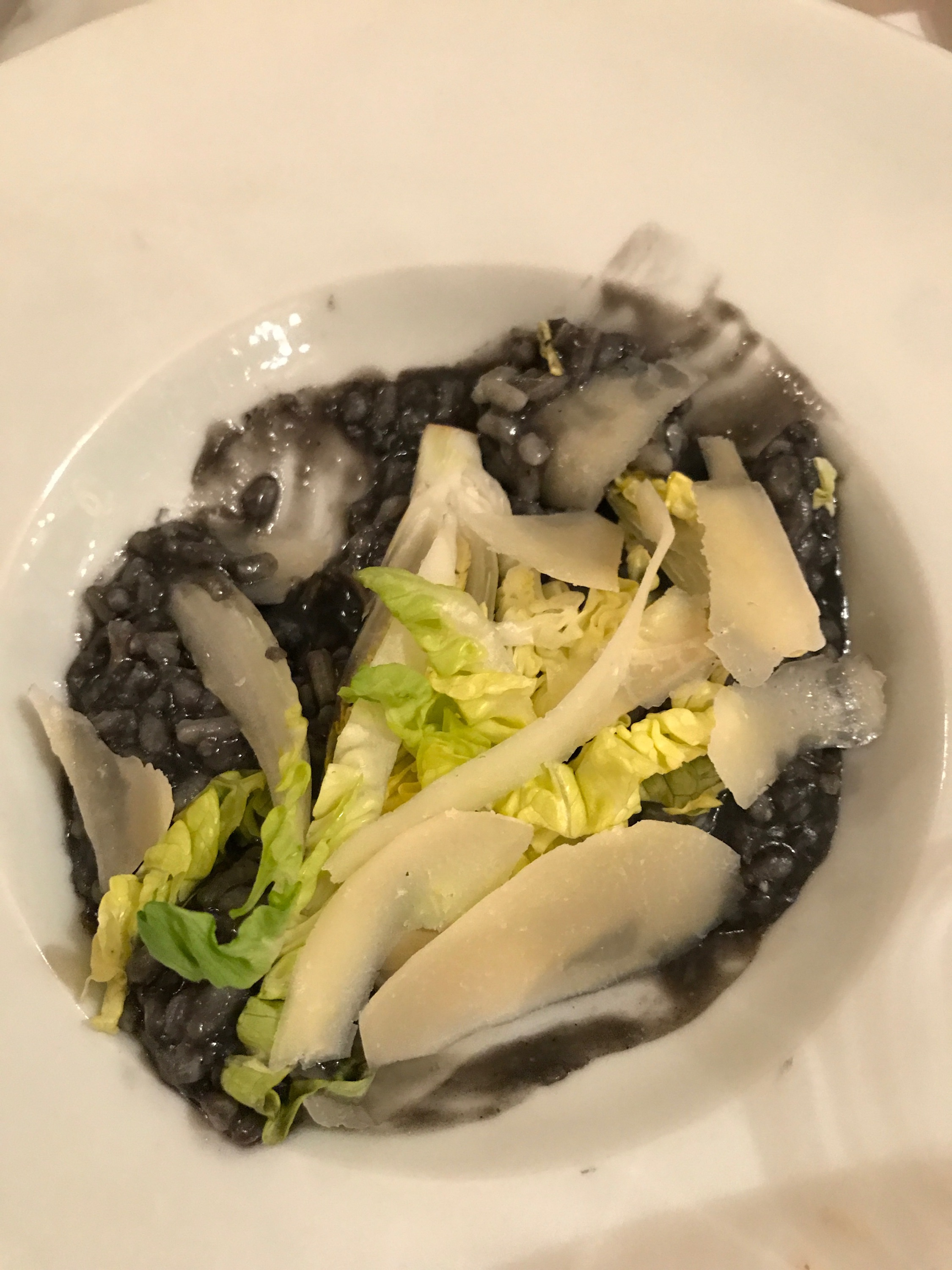 Risotto with ink 🐙