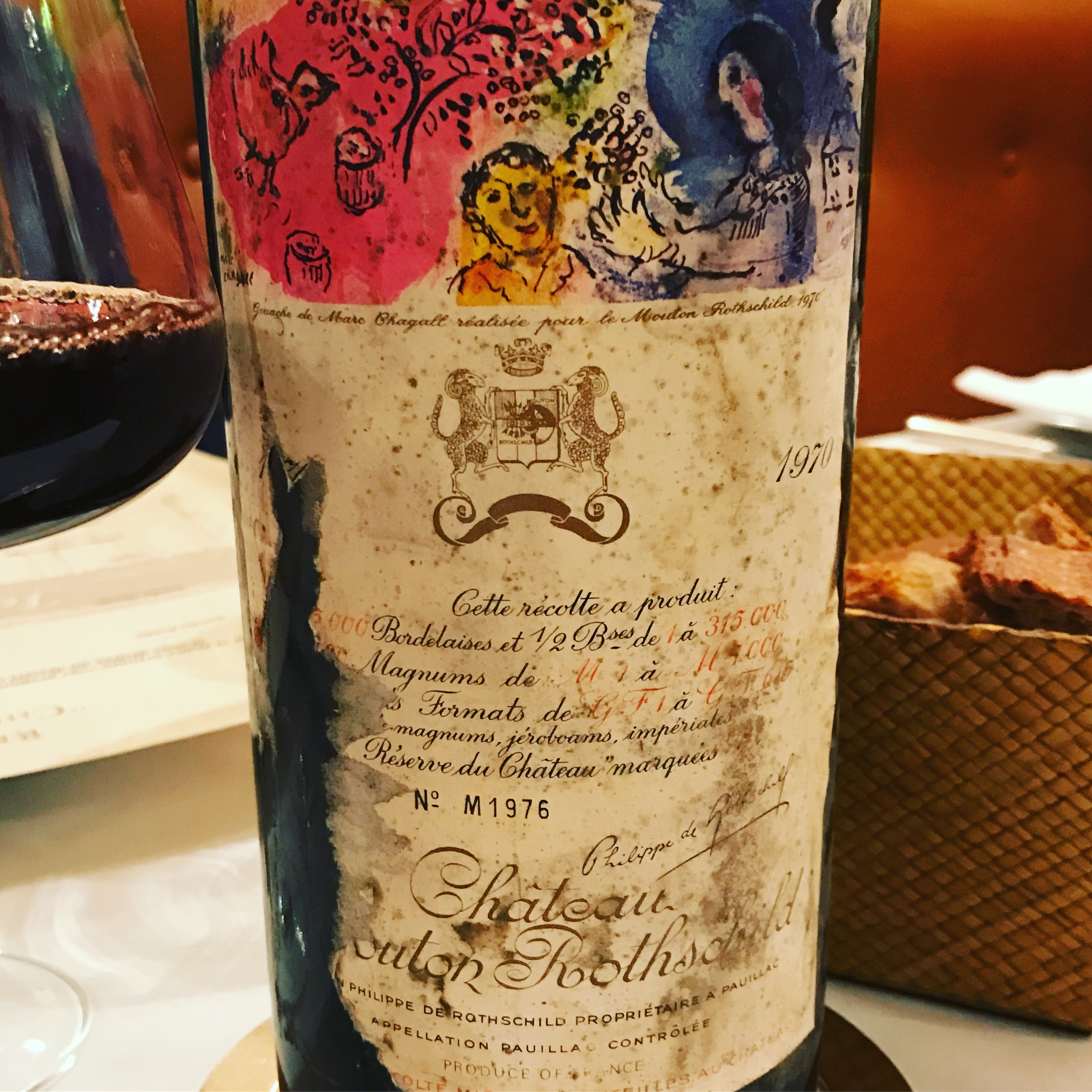 Mouton Rothschild 1970 to celebrate my birth year (my year stinks for wine)