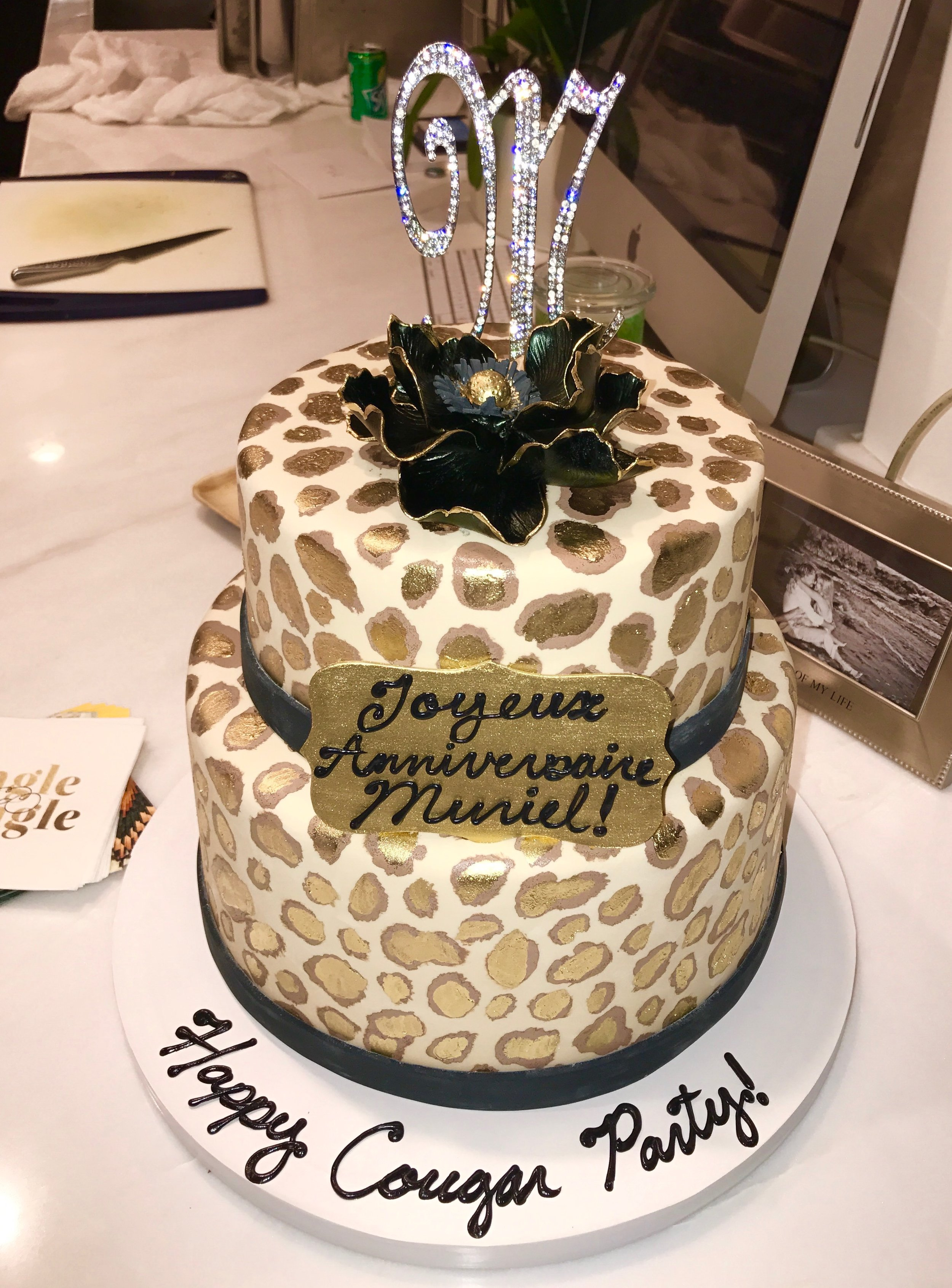 Leopard Cake for Cougar Party