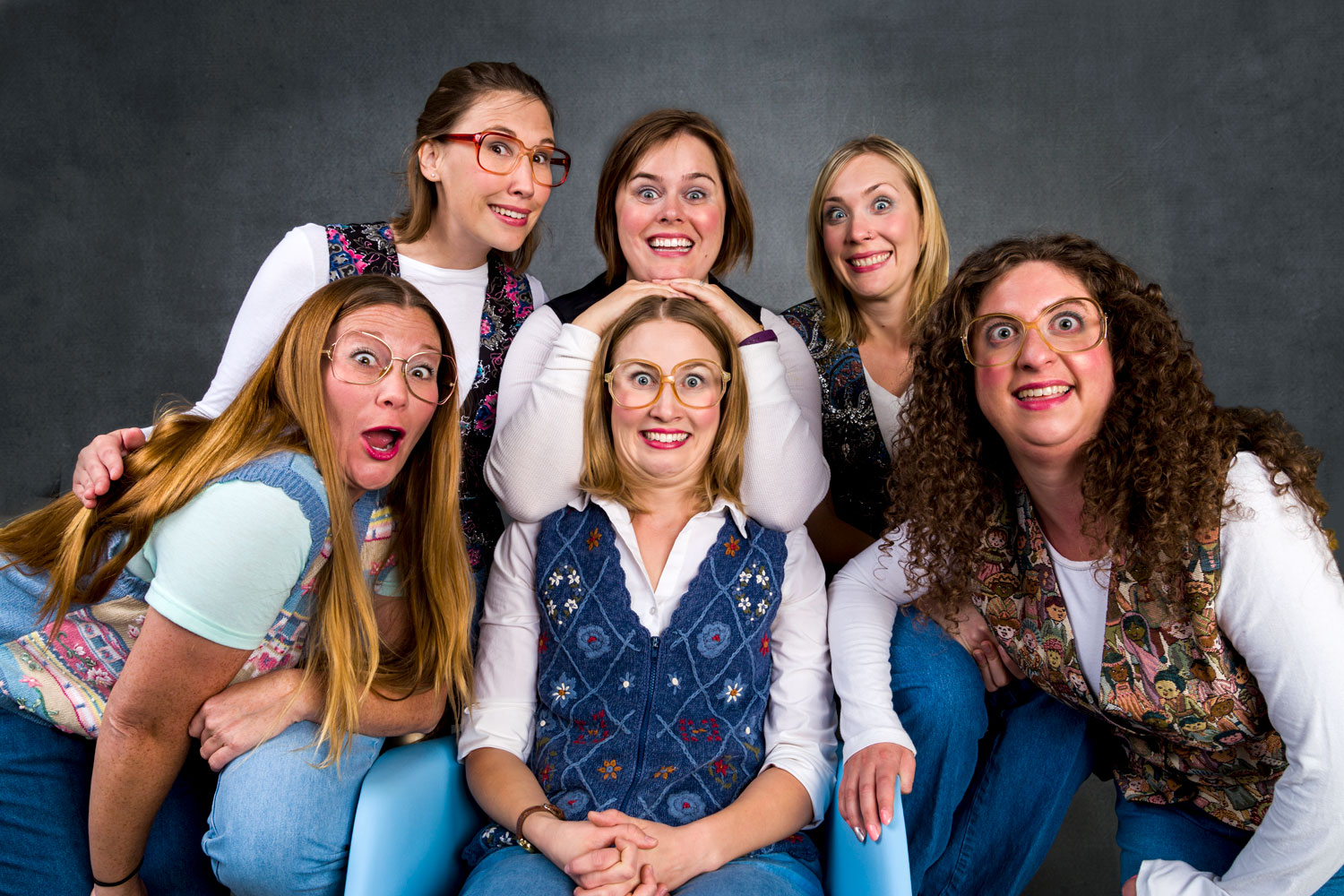 THE RIVETERS  is TIM's OG all-female team! They will take your suggestions, open up their lives to you, then perform long form improv for your amusement and delight! The Riveters is comprised of Catherine Bartlett, Jessica Peck, Jessica Hill, Clare Shelley, Jessica Gregg, and Esther Brilliant.
