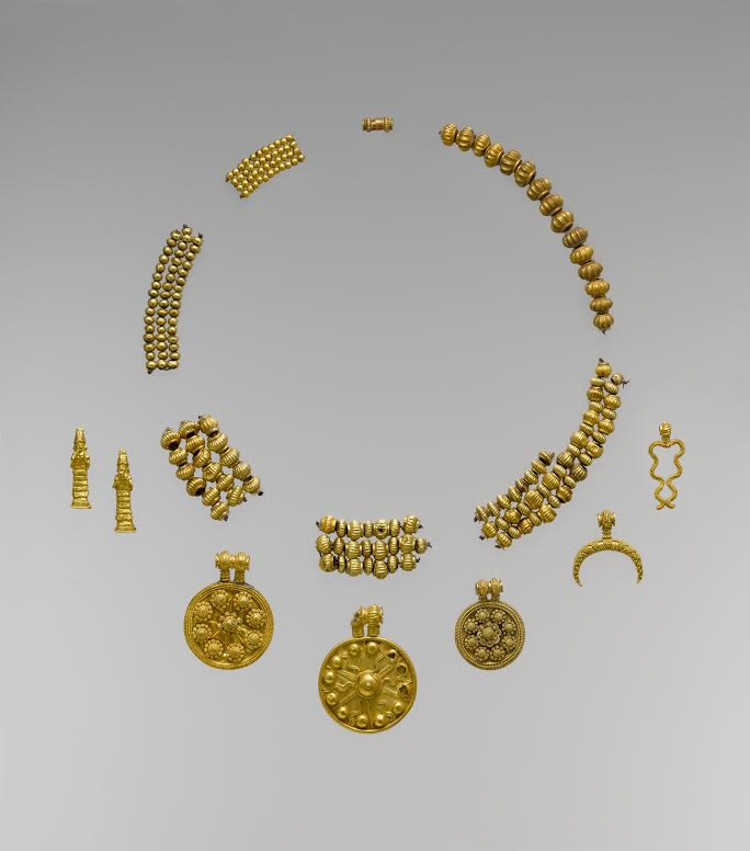 Old Babylonian gold necklace pendants and beads, 18th-17th Century B.C. The Metropolitan Museum of Art, licensed under CC0 1.0