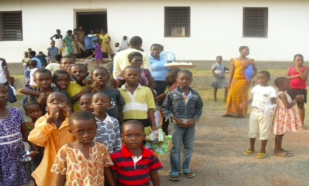 Some of the supported children in Tsito for their annual christmas celebration, 2016