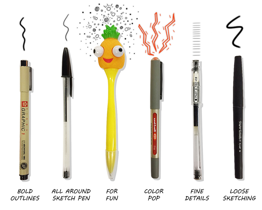 There is nothing better than ink flowing smoothly across a fresh sheet of paper (smudge free).It may have taken weeks, months, or even years to find that perfect sketch pen, but we all have one. Unless you're Chris. His favorite pen is whichever one is closest to him.