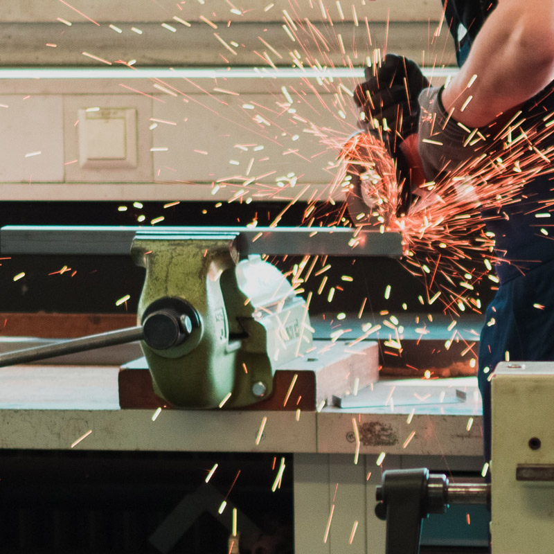 Custom metal fabrication using a wide array of tools and techniques in compliance with all applicable standards.