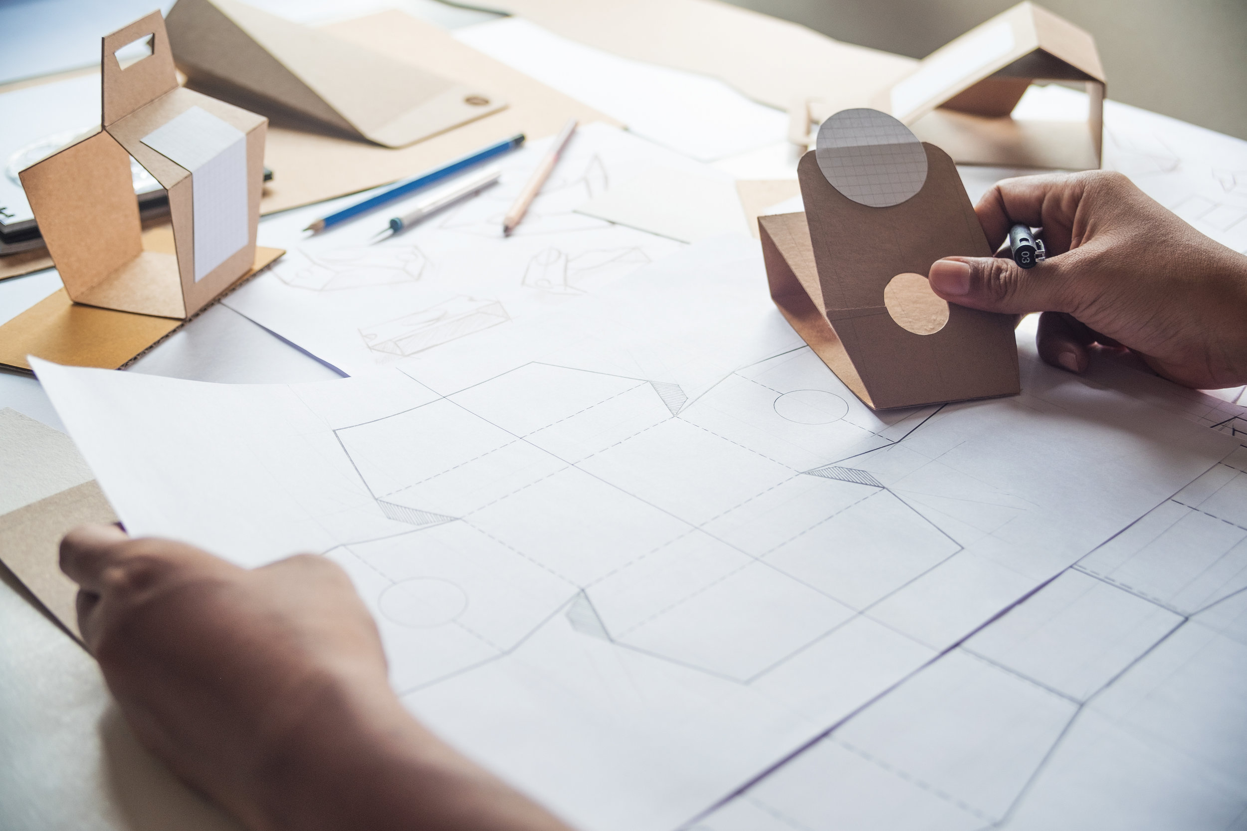 Our in-house team of graphic designers take your product to the next level by crafting authentic design solutions that will help to improve your product's visibility, marketability, and sales performance. Whether it's branding, packaging, or any other graphical necessity, we're here to help.