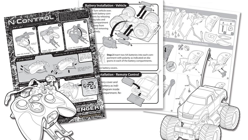 Toy Instruction Manuals & Line Art