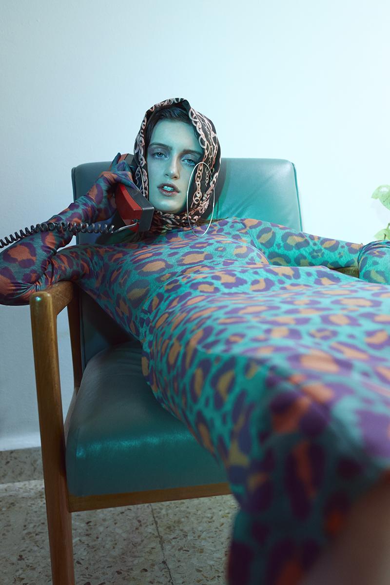 body y falda   Alexia Ulibarri   medias   American Apparel   arracadas   Downtown LA   sandalias   Oysho   mascada vintage