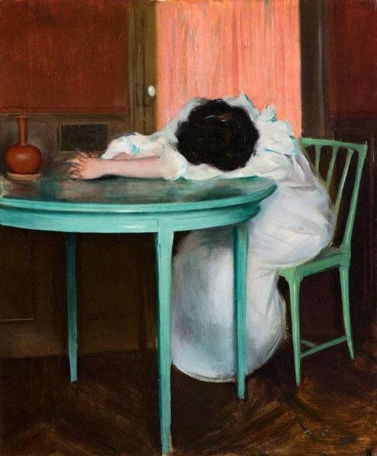 Tired, Ramon Casas, 1900.