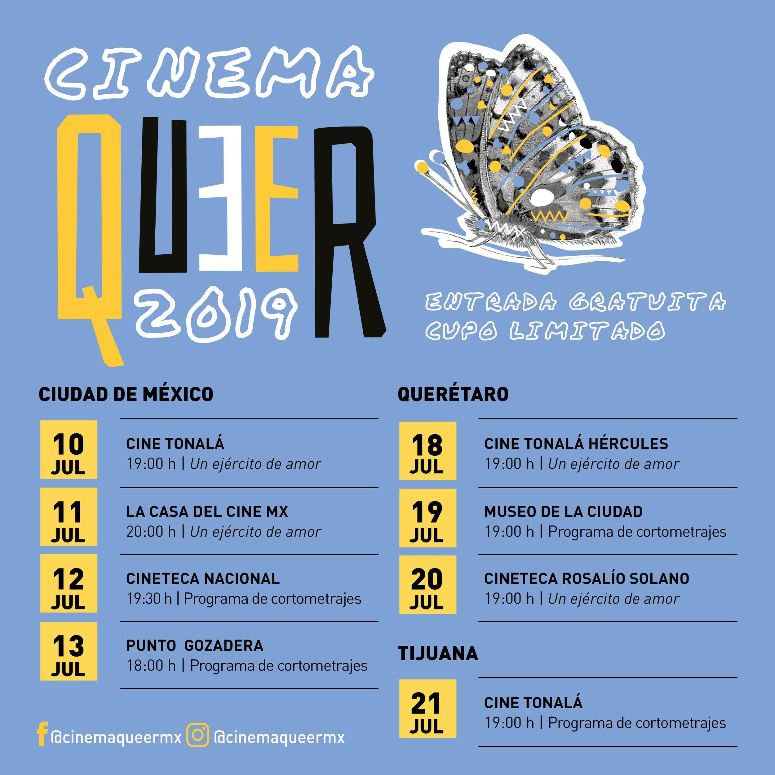 Cartel del evento: Cinema Queer MX
