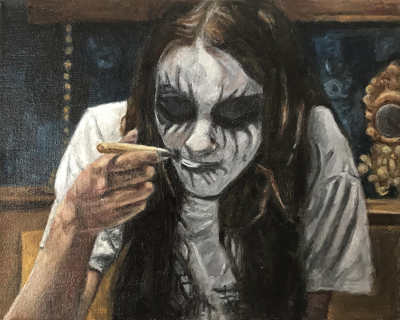 Ricardo Castro    I will eat your soul   Óleo sobre tela