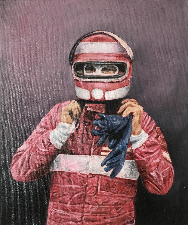 Ricardo Castro    Pink racer   Óleo sobre tela