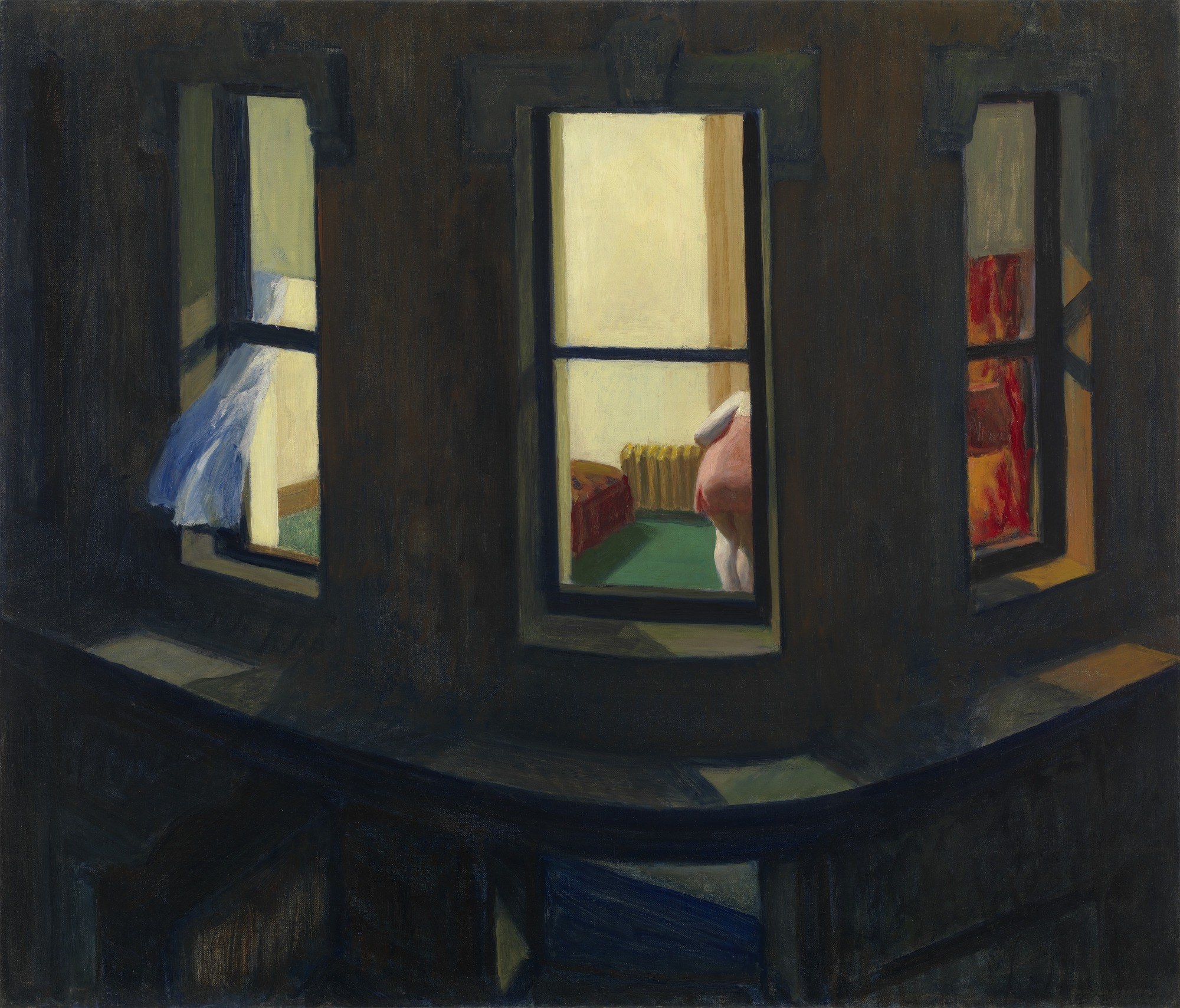 Night Windows (1928), E. Hopper.