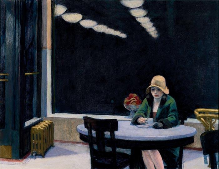 Autómata (1927), E. Hopper.