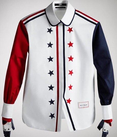 Camisa diseñada por Tommy Hilfiger.