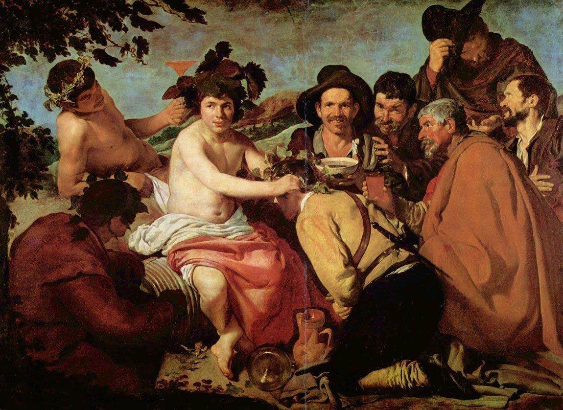 Baco, la versión romana del dios Dionisios.