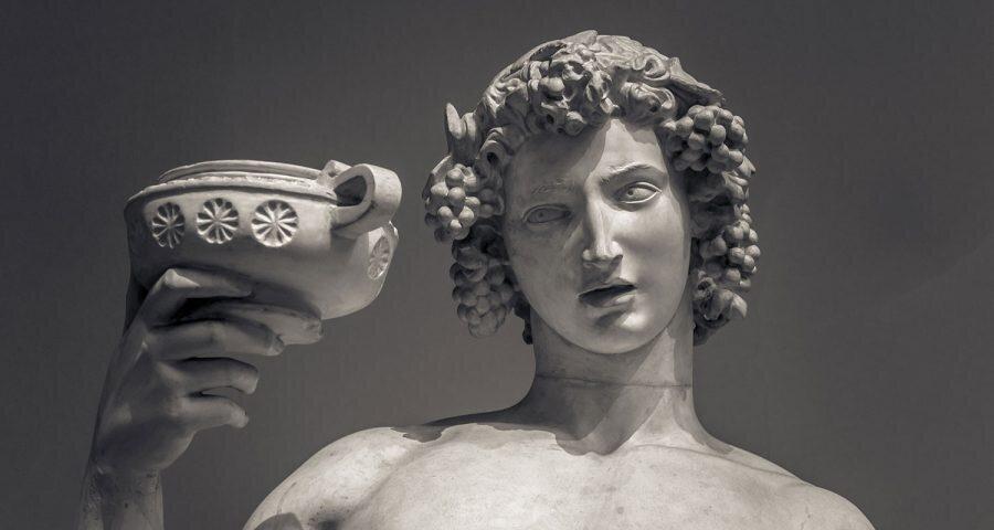 Dionisios, dios del vino.