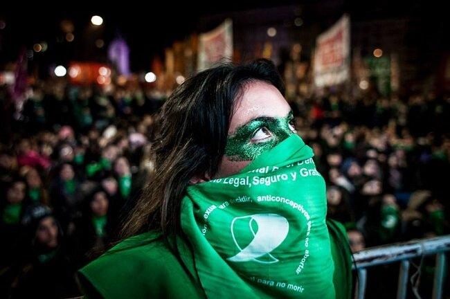 Marcha a favor de la despenalización del aborto.