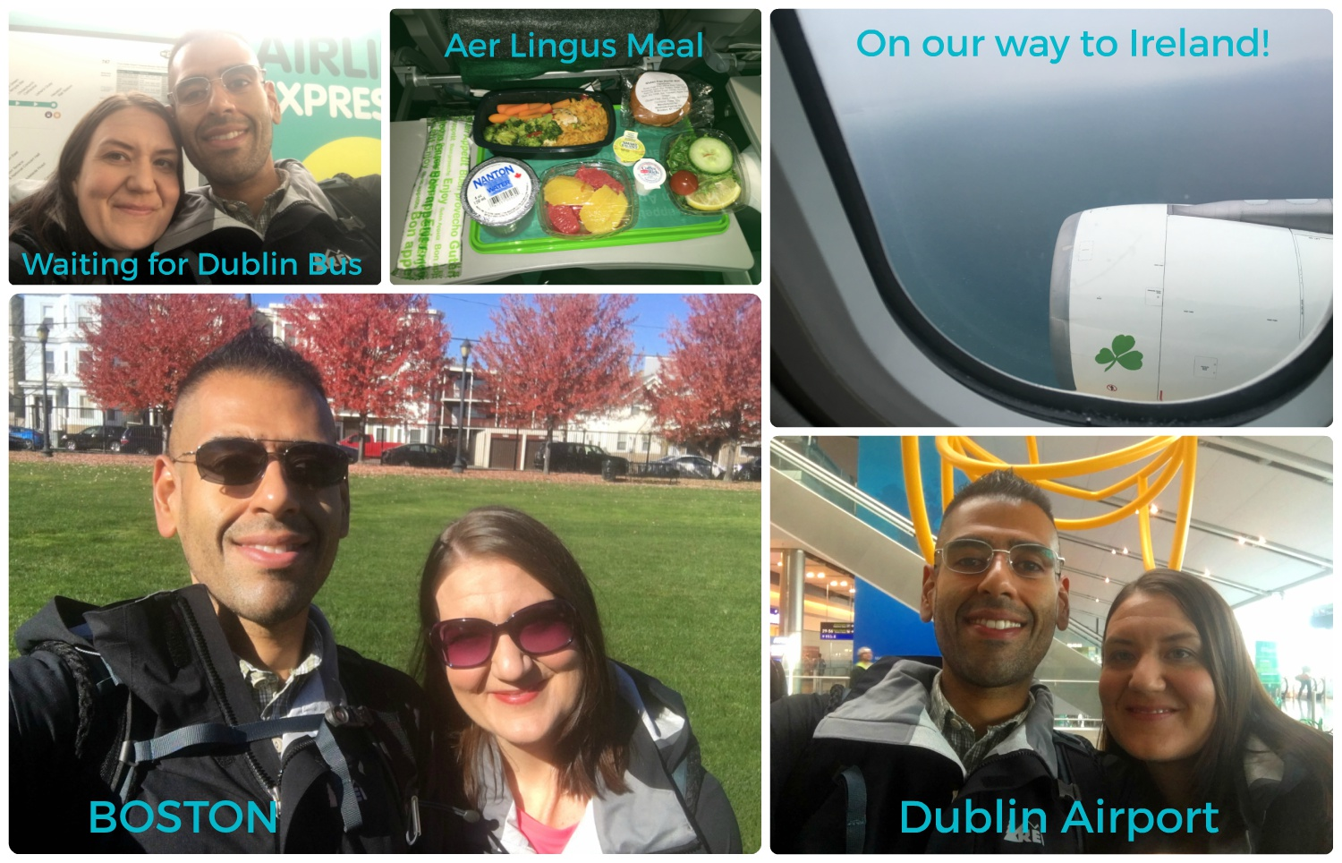 On our way to and arriving in Dublin, Ireland