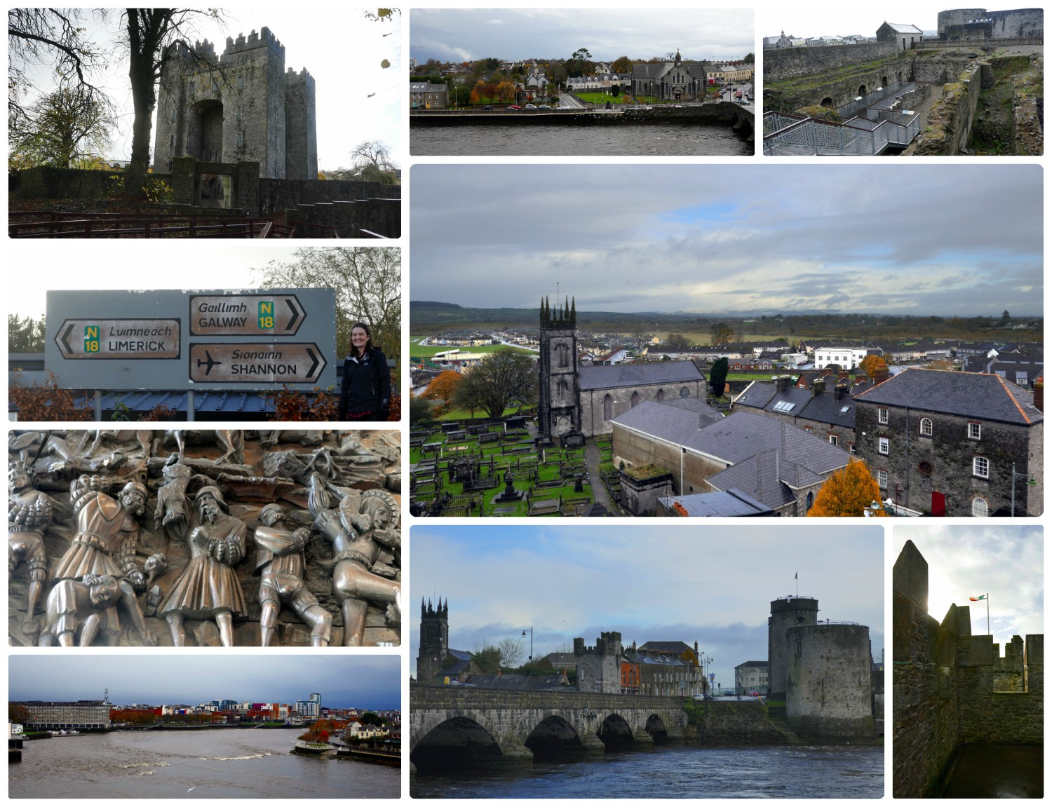Bunratty Castle, Shannon ,and Limerick on our Ireland roadtrip!
