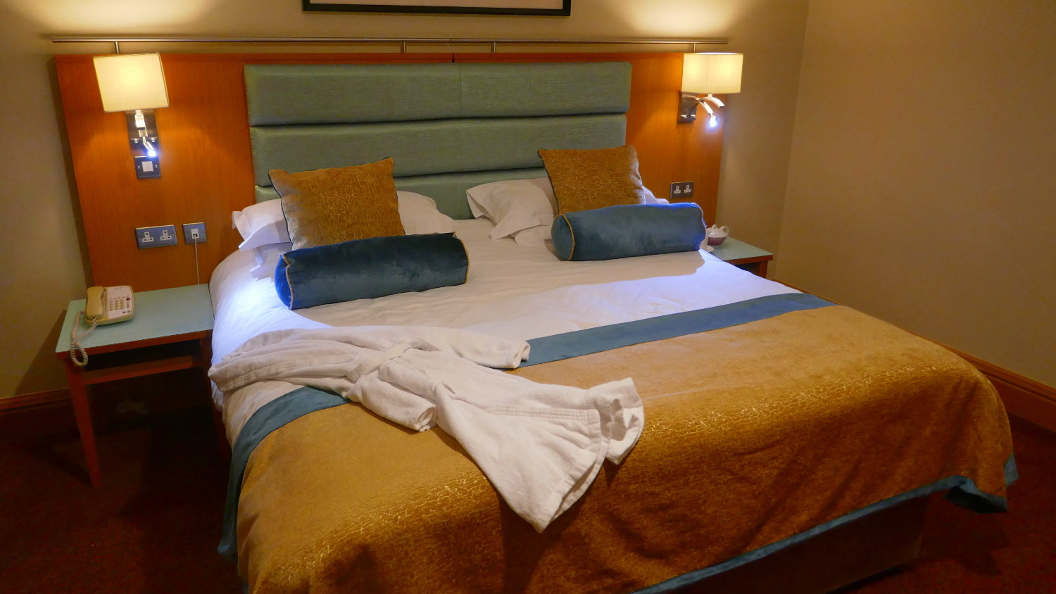 Radisson Blu Hotel & Spa, Limerick, Ireland for two nights and paid for with points. Great work area, robes, slippers, gourmet tea set up, and a comfortable bed! Total savings: $230
