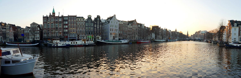 Canal Panorama, Amsterdam, Netherlands