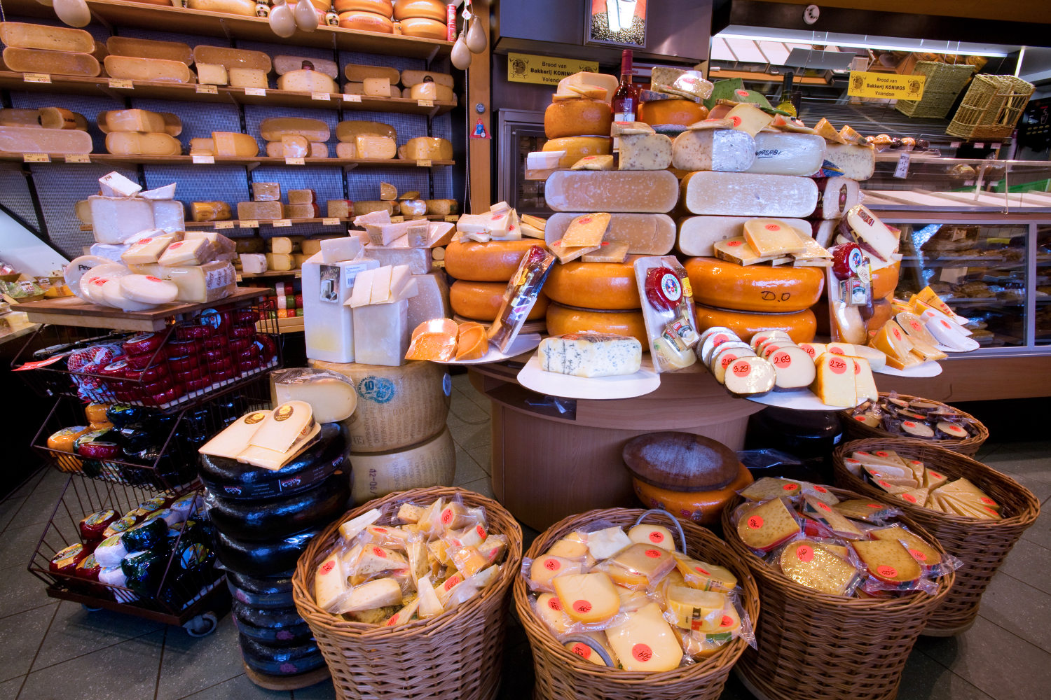 Entire shops dedicated to cheese... genius!