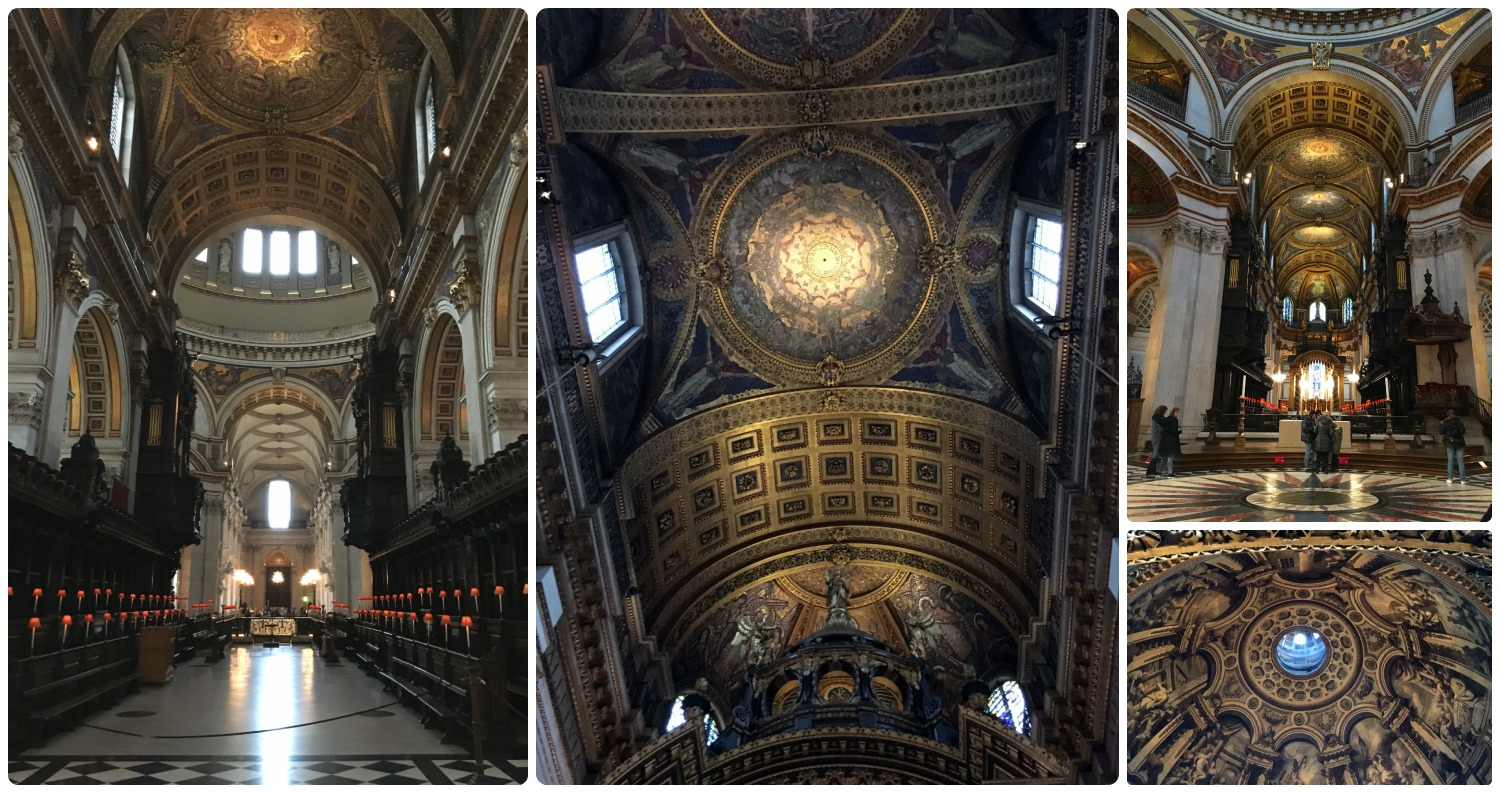 The inside of St. Paul's Cathedral in London is beautiful!