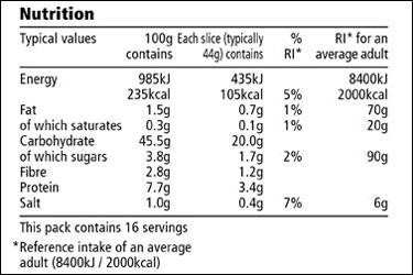 UK Nutritional Label. Notice the first column with values for 100g. Makes comparisons a breeze!