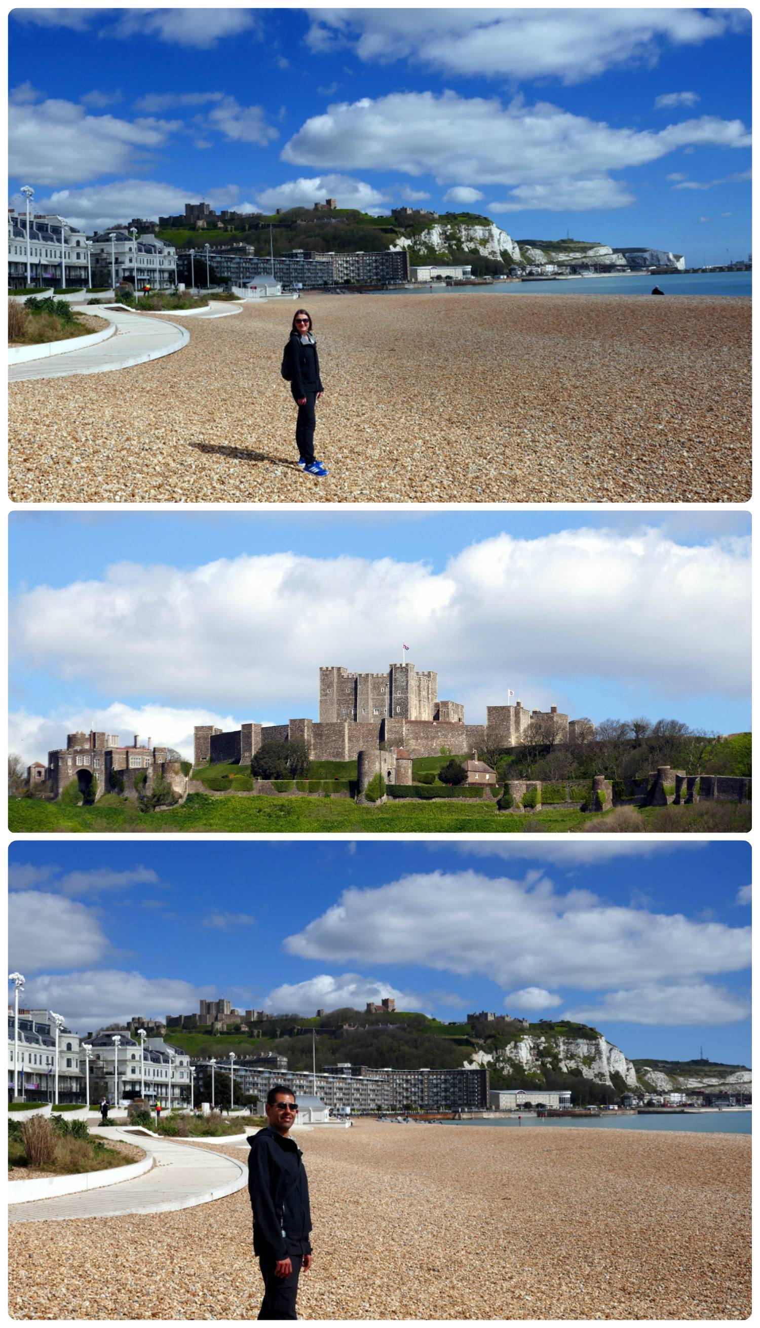 Enjoying the sun and the castle in Dover, UK.