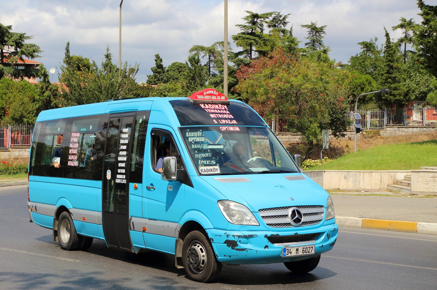 If you're up for an adventure, take a mini-bus in Istanbul, Turkey!