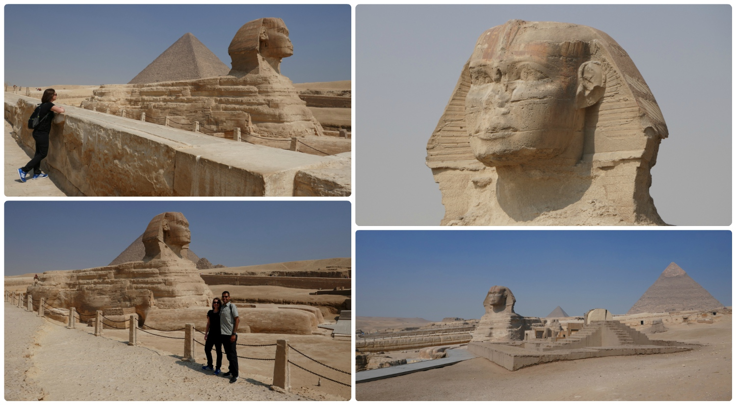 Seeing the Sphinx for the first time was an amazing experience. We were lucky enough to see it with almost no one else around.