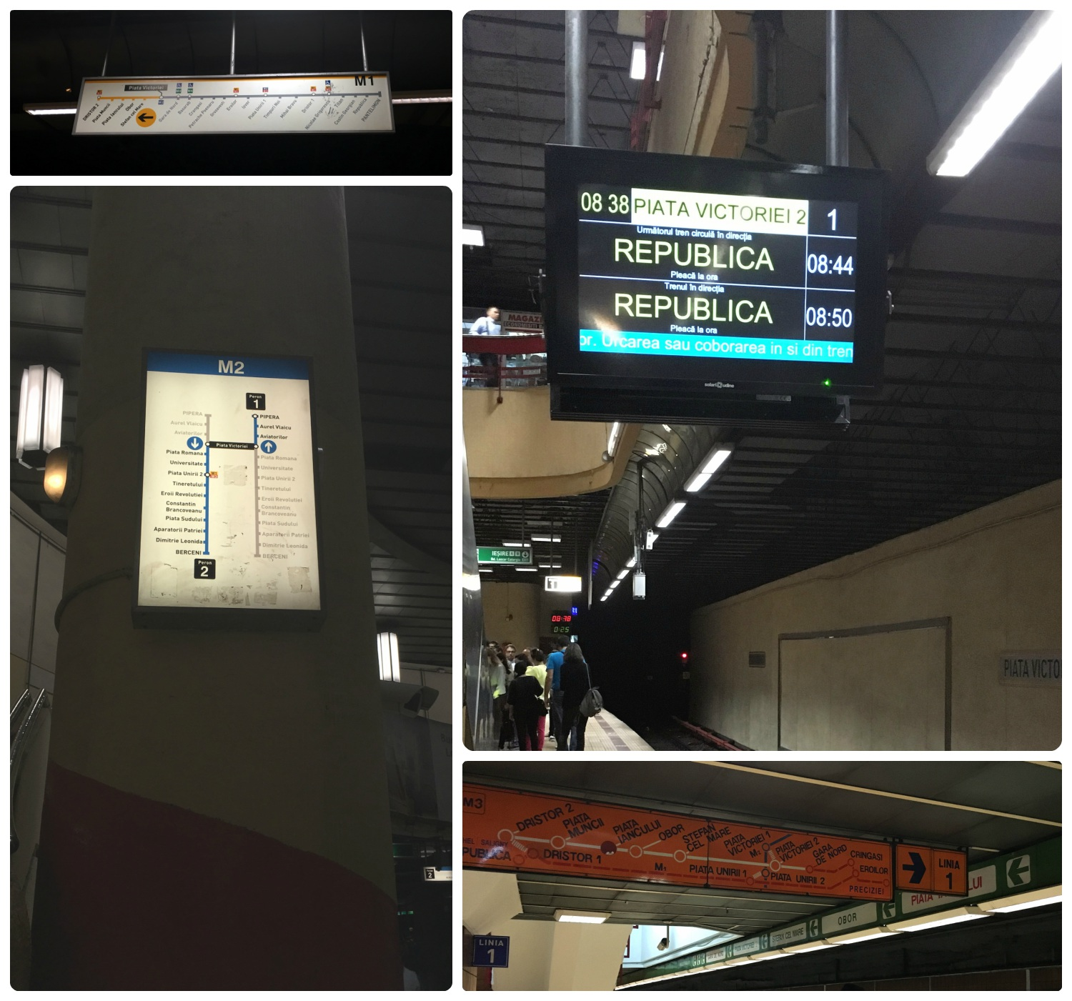 Signs throughout the metro station will help you navigate your way. Some stations had digital signs showing real-time information for the next train, and all stations had route maps posted.