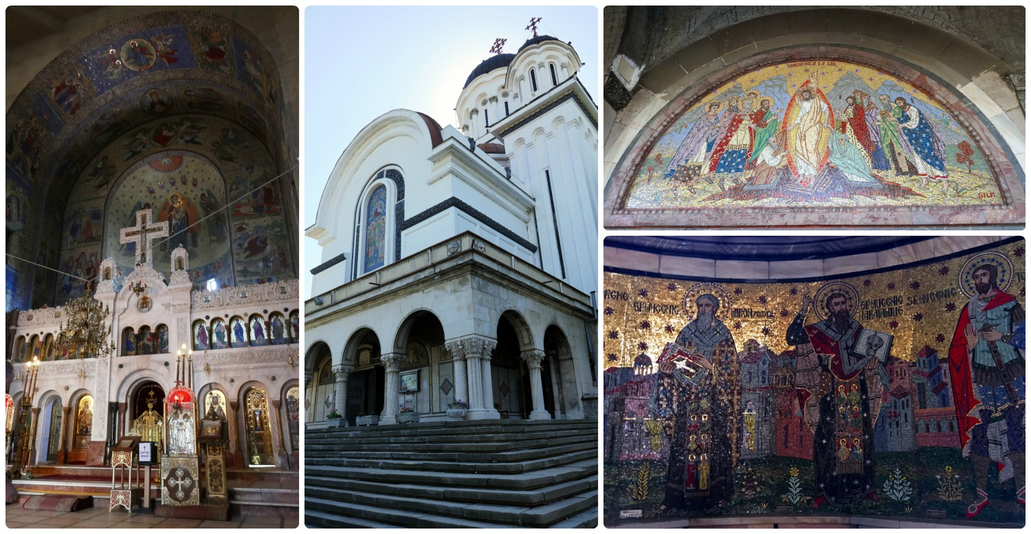 The mosaics inside Cașin Monastery are very impressive!