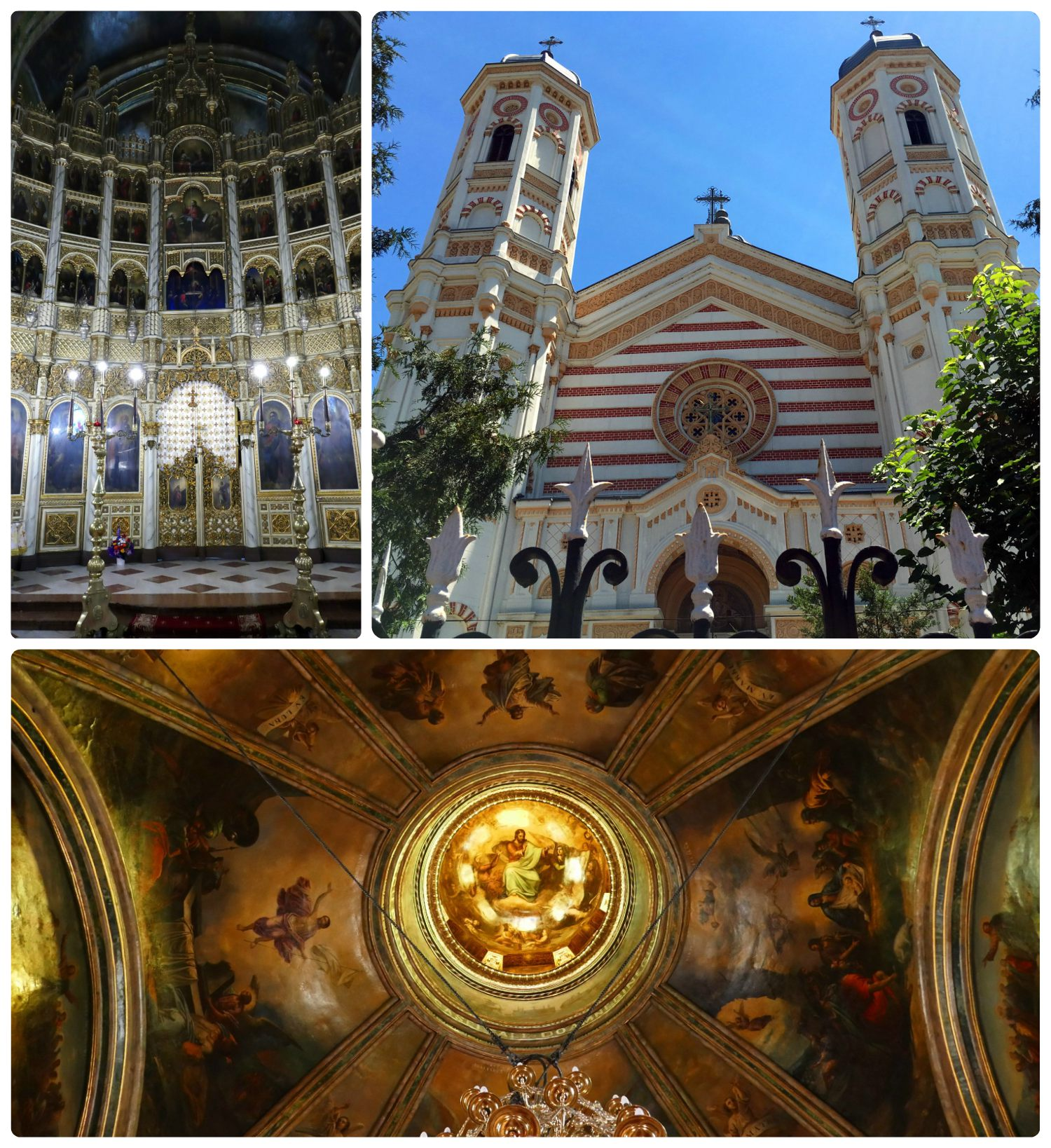 During our visit, Saint Spyridon The New Church was under renovation, however, what we were able to see was quite beautiful. In particular, the golden dome had murals that beg visitors to look up.