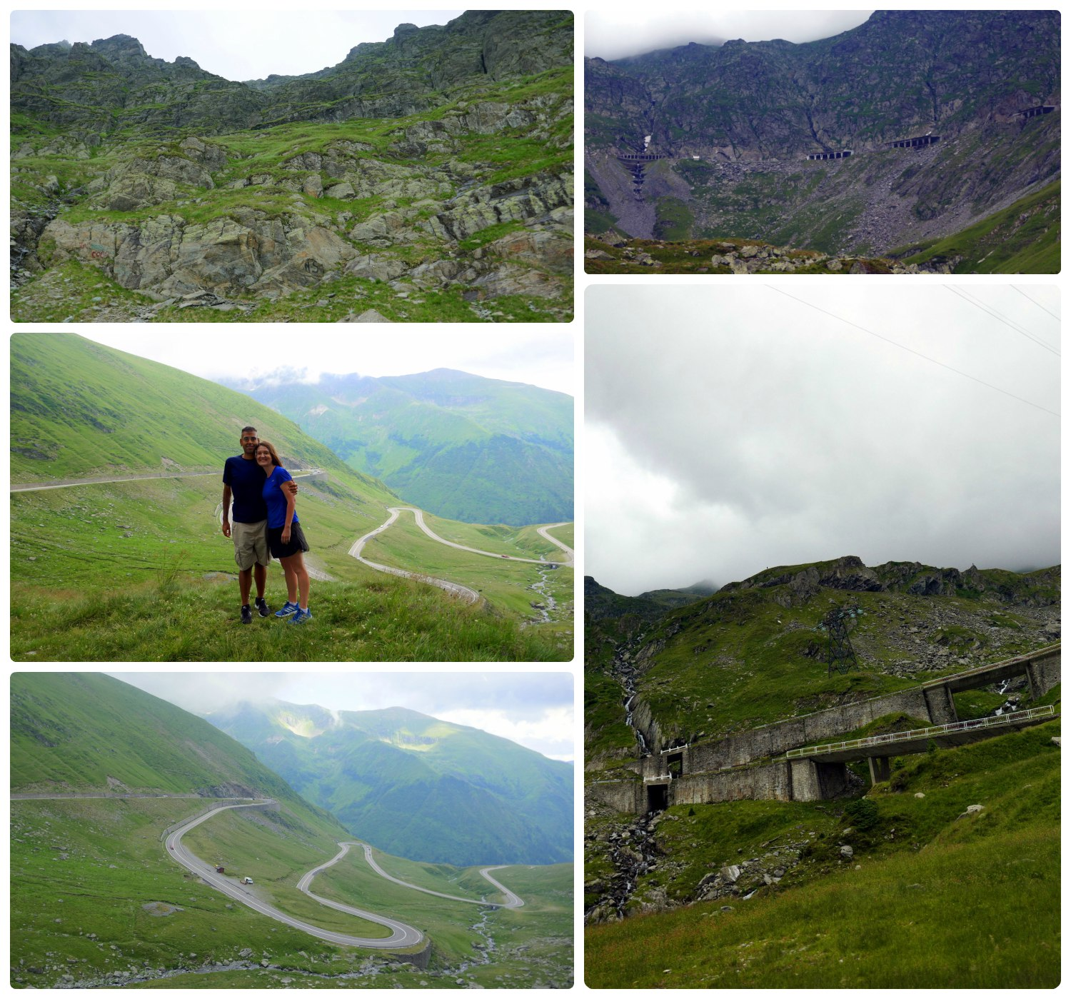 As we climbed up the mountain on the Transfagarasan Highway, the fog rolled in and the 80 degree Fahrenheit weather quickly dropped enough that we needed to turn on the heater in our rental car. On this side of the mountains the highway has sharp switchbacks, but nothing like the other side... just wait!